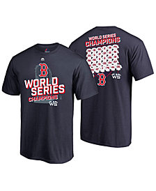 Majestic Men's Boston Red Sox World Series Champ Roster of Jerseys T-Shirt 2018