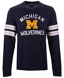 '47 Brand Men's Michigan Wolverines Long Sleeve Scramble T-Shirt
