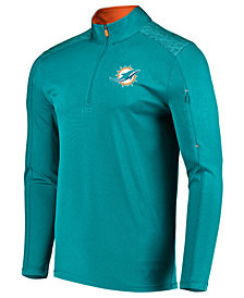 VF Licensed Sports Group Men's Miami Dolphins Ultra Streak Half-Zip Pullover