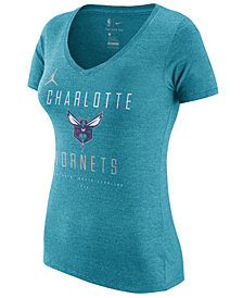 Nike Women's Charlotte Hornets Dri V-Neck T-Shirt