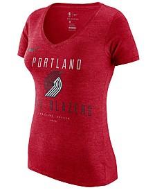 Nike Women's Portland Trail Blazers Dri V-Neck T-Shirt