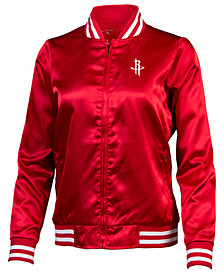 Antigua Women's Houston Rockets Strut Satin Bomber Jacket