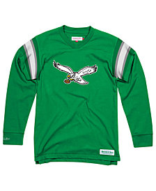 Mitchell & Ness Men's Philadelphia Eagles Team Captain V-Neck Long Sleeve T-Shirt
