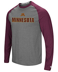Colosseum Men's Minnesota Golden Gophers Social Skills Long Sleeve Raglan Top