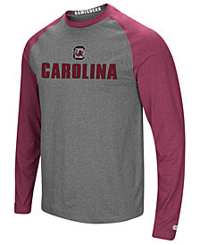 Colosseum Men's South Carolina Gamecocks Social Skills Long Sleeve Raglan Top