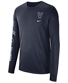 Nike Men's Villanova Wildcats Long Sleeve Basketball T-Shirt