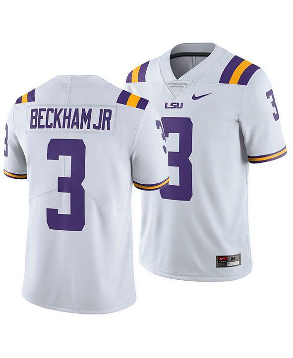 Nike Men's Odell Beckham Jr. LSU Tigers Limited Football Jersey