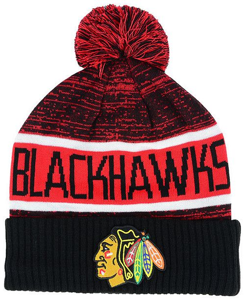 Authentic NHL Headwear Chicago Blackhawks Goalie Knit Hat