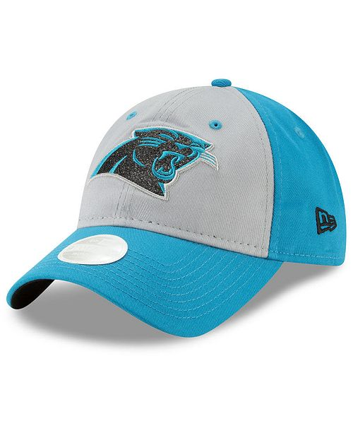 56acb54e Women's Carolina Panthers Gray Glitter 9TWENTY Cap