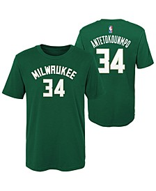 Giannis Antetokounmpo Milwaukee Bucks Replica Name and Number T-Shirt, Little Boys (4-7)