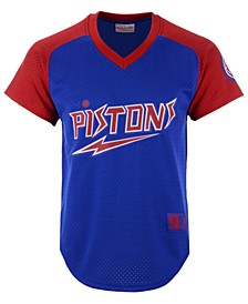 Men's Detroit Pistons Final Seconds Mesh V-Neck Jersey