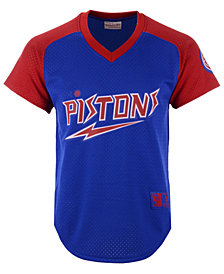 Mitchell & Ness Men's Detroit Pistons Final Seconds Mesh V-Neck Jersey