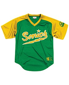 Men's Seattle SuperSonics Final Seconds Mesh V-Neck Jersey