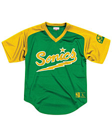 Mitchell & Ness Men's Seattle SuperSonics Final Seconds Mesh V-Neck Jersey
