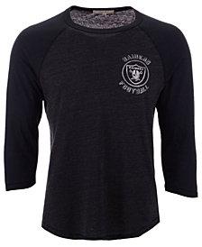 Authentic NFL Apparel Men's Oakland Raiders End Around Three-Quarter Raglan T-Shirt