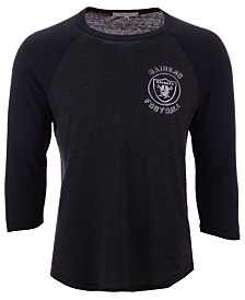Authentic NFL Apparel Men's Oakland Raiders End Around Three-Quarter Raglan T-Shirt