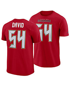 Nike Men's Lavonte David Tampa Bay Buccaneers Pride Name and Number Wordmark T-Shirt