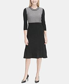 Calvin Klein Mixed-Stitch Dress