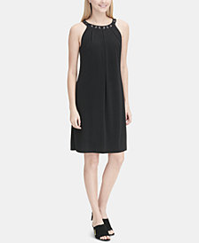 Calvin Klein Embellished Shift Dress