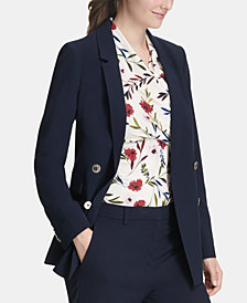 DKNY Long Double-Breasted Jacket, Created for Macy's