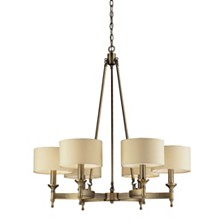Pembroke 6-Light Chandelier in Brushed Antique Brass