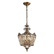 Villegosa Collection 6 light pendant in Spanish Bronze