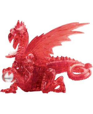 3D Crystal Puzzle - Dragon (Red): 56 Pcs 7263448
