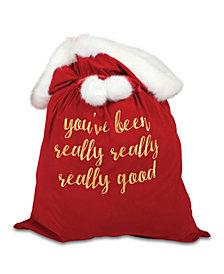 Velvet Santa Bag Red