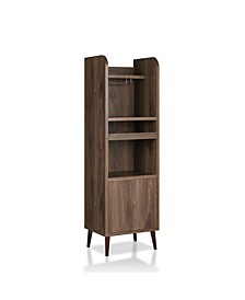 Dansel Distressed Walnut Wine Cabinet