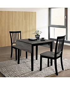 Toddy 3-Piece Wooden Dining Set
