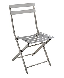 Mina Stainless Steel Folding Chair (Set of 2)