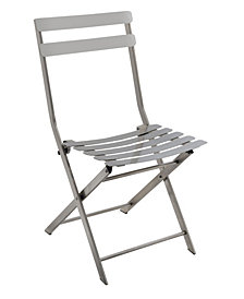 Mina Industrial Stainless Steel Folding Chair (Set of 2)