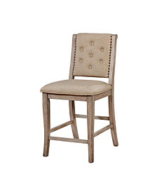 Schuster Rustic Natural Tone Tufted Counter Height Dining Chair