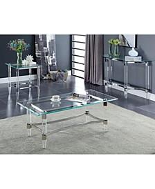 Jourdan Glass Top End Table