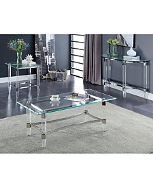 Jourdan Clear Acrylic and Glass End Table