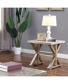 Marque Genuine Marble Top End Table