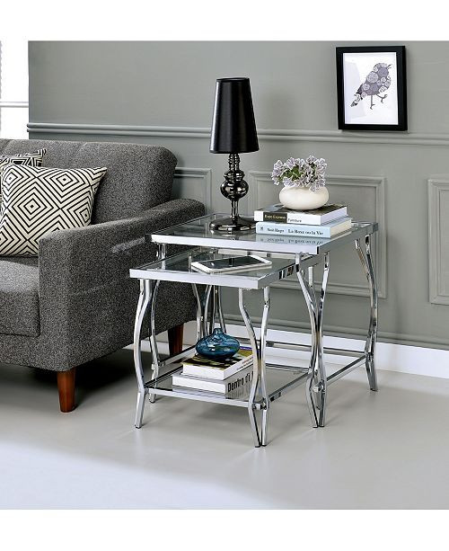 Furniture of America Janelle Contemporary Nesting End Table