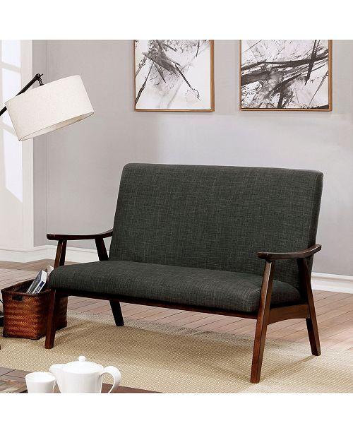 Furniture Of America Kikee Mid Century Modern Loveseat Reviews