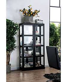 Mendes Grid-Like Wooden Frame Curio Cabinet