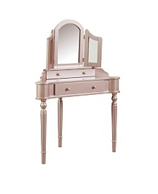 Cristal Two-Drawer Vanity Set