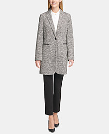 Tommy Hilfiger Patched-Elbow Blazer, Mandarin-Collar Blouse & Slim-Leg Pants
