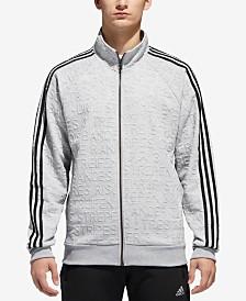 adidas Men's Typography Tonal-Print Track Jacket