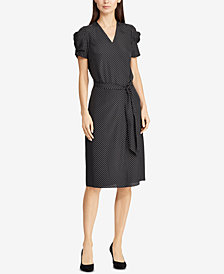Lauren Ralph Lauren Belted Crepe Dress
