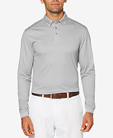 PGA TOUR Men's Long-Sleeve Birdseye Polo