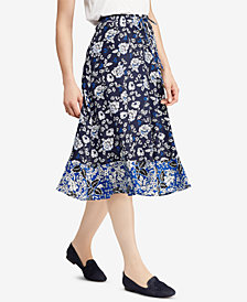 Lauren Ralph Lauren Floral-Print Georgette Skirt