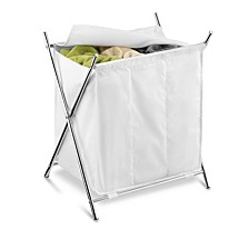 Folding Triple Laundry Sorter with Cover