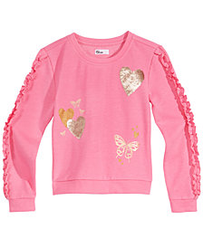 Epic Threads Big Girls Flip Sequin Sweatshirt, Created for Macy's