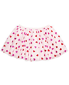 Epic Threads Little Girls Heart-Print Tulle Skirt, Created for Macy's