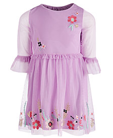 Epic Threads Little Girls Embroidered Mesh Dress, Created for Macy's