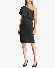 Lauren Ralph Lauren Satin One-Shoulder Dress